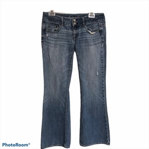 American eagle light blue flare jeans stretch 4